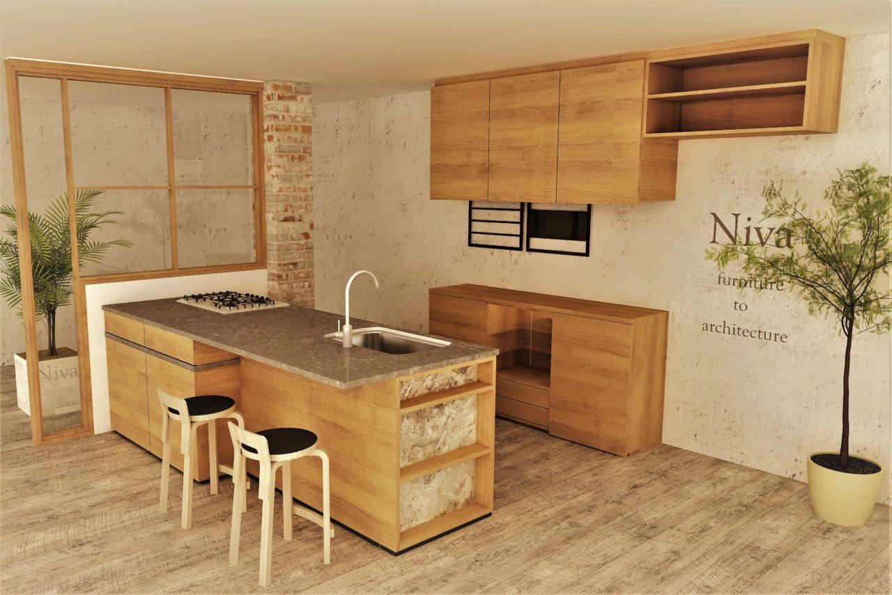 壁面収納 カップボード 食器棚 キッチン