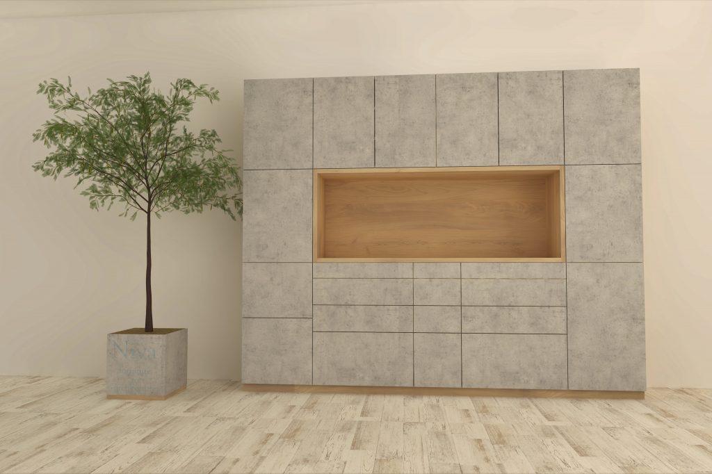 壁面収納オーダー食器棚(カップボード)
